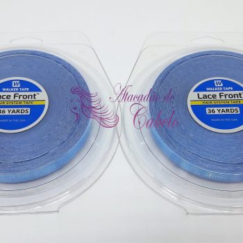 Fita Rolo Adesivo Lace Front Azul 36 Metros x 2,5 cm – Kit C/2