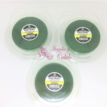 Fita Dupla Face Easy Green Verde 36m X 2.5cm – Kit C/3